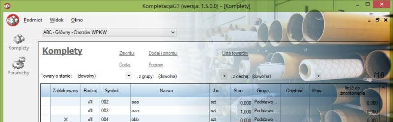 Kompletacja GT